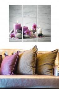 Tablou decorativ (set 3 piese) Bianca 553BNC2293 multicolor
