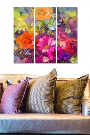 Tablou decorativ (set 3 piese) Bianca 553BNC2296 multicolor