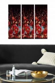 Tablou decorativ (set 3 piese) Bianca 553BNC2299 multicolor