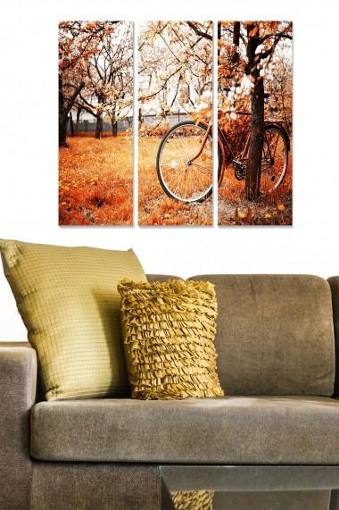 Tablou decorativ (set 3 piese) Bianca 553BNC2303 multicolor