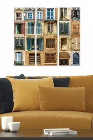 Tablou decorativ (set 3 piese) Bianca 553BNC2305 multicolor