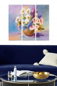 Tablou decorativ (set 3 piese) Bianca 553BNC2327 multicolor