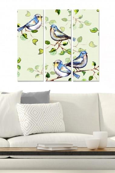 Tablou decorativ (set 3 piese) Bianca 553BNC2339 multicolor