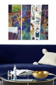 Tablou decorativ (set 3 piese) Bianca 553BNC2353 multicolor