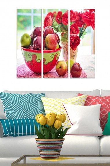 Tablou decorativ (set 3 piese) Bianca 553BNC2354 multicolor