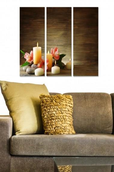 Tablou decorativ (set 3 piese) Bianca 553BNC2356 multicolor