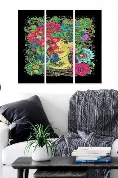 Tablou decorativ (set 3 piese) Bianca 553BNC2365 multicolor