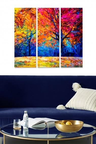 Tablou decorativ (set 3 piese) Bianca 553BNC2377 multicolor