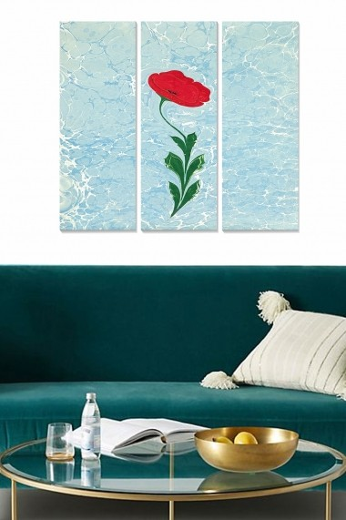Tablou decorativ (set 3 piese) Bianca 553BNC2383 multicolor