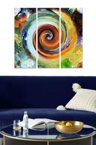 Tablou decorativ (set 3 piese) Bianca 553BNC2393 multicolor