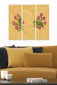 Tablou decorativ (set 3 piese) Bianca 553BNC2397 multicolor