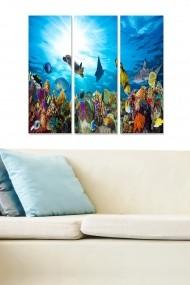 Tablou decorativ (set 3 piese) Bianca 553BNC2403 multicolor