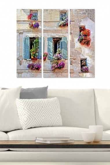 Tablou decorativ (set 3 piese) Bianca 553BNC2412 multicolor