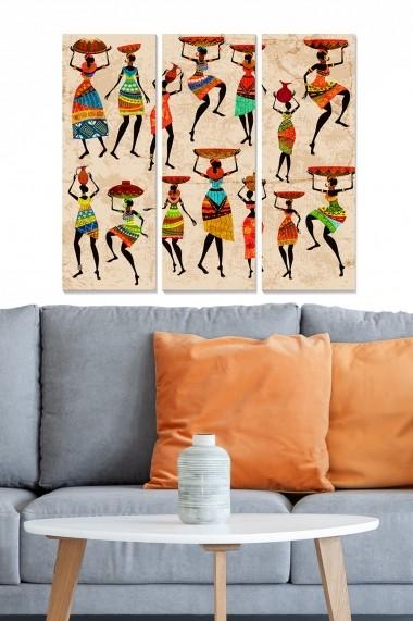 Tablou decorativ (set 3 piese) Bianca 553BNC2432 multicolor