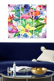 Tablou decorativ (set 3 piese) Bianca 553BNC2450 multicolor