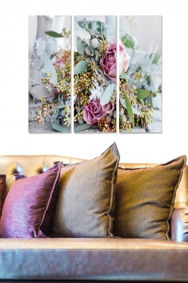 Tablou decorativ (set 3 piese) Bianca 553BNC2473 multicolor