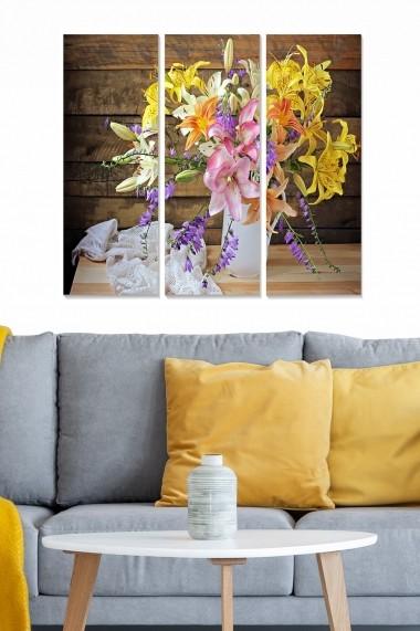 Tablou decorativ (set 3 piese) Bianca 553BNC2474 multicolor