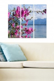 Tablou decorativ (set 3 piese) Bianca 553BNC2485 multicolor