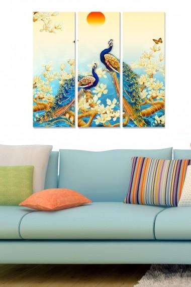 Tablou decorativ (set 3 piese) Bianca 553BNC2511 multicolor