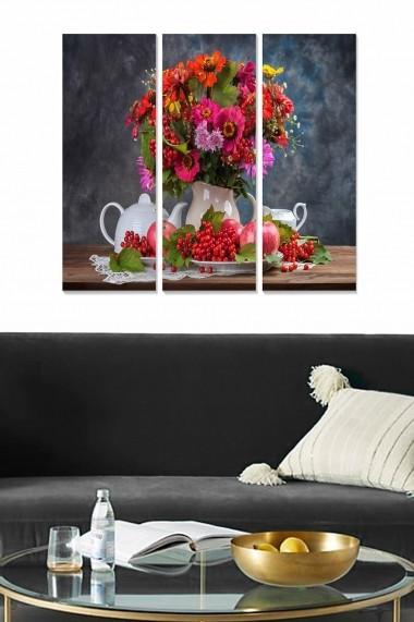 Tablou decorativ (set 3 piese) Bianca 553BNC2521 multicolor