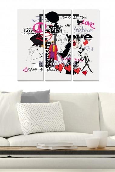 Tablou decorativ (set 3 piese) Bianca 553BNC2574 multicolor