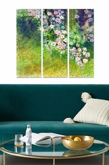 Tablou decorativ (set 3 piese) Bianca 553BNC2589 multicolor