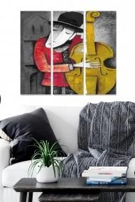Tablou decorativ (set 3 piese) Bianca 553BNC2597 multicolor