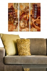 Tablou decorativ (set 3 piese) Bianca 553BNC2603 multicolor