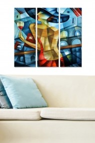 Tablou decorativ (set 3 piese) Bianca 553BNC2606 multicolor