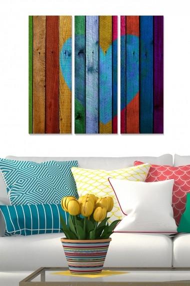 Tablou decorativ (set 3 piese) Bianca 553BNC2610 multicolor