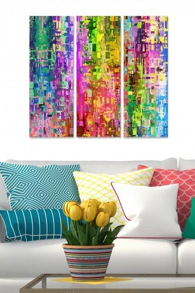 Tablou decorativ (set 3 piese) Bianca 553BNC2612 multicolor
