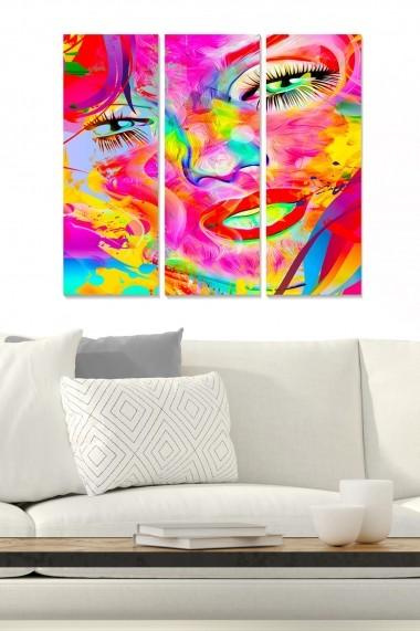 Tablou decorativ (set 3 piese) Bianca 553BNC2613 multicolor