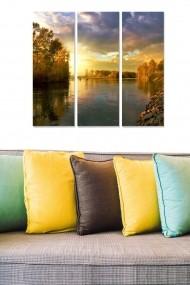 Tablou decorativ (set 3 piese) Bianca 553BNC2621 multicolor