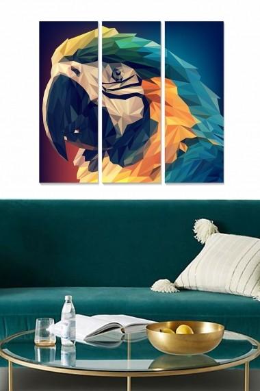 Tablou decorativ (set 3 piese) Bianca 553BNC2623 multicolor