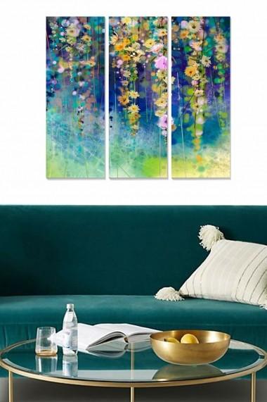 Tablou decorativ (set 3 piese) Bianca 553BNC2631 multicolor