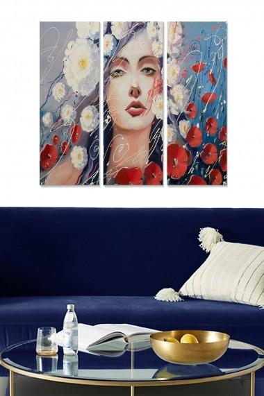 Tablou decorativ (set 3 piese) Bianca 553BNC2633 multicolor