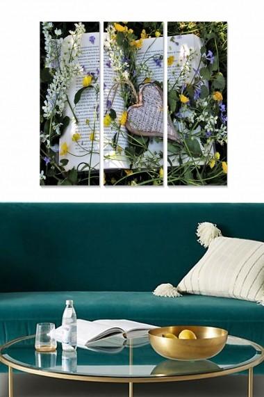 Tablou decorativ (set 3 piese) Bianca 553BNC2639 multicolor