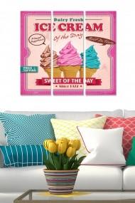 Tablou decorativ (set 3 piese) Bianca 553BNC2654 multicolor