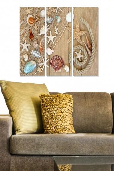 Tablou decorativ (set 3 piese) Bianca 553BNC2669 multicolor