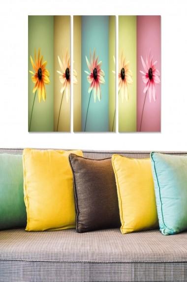 Tablou decorativ (set 3 piese) Bianca 553BNC2672 multicolor