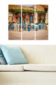 Tablou decorativ (set 3 piese) Bianca 553BNC2677 multicolor