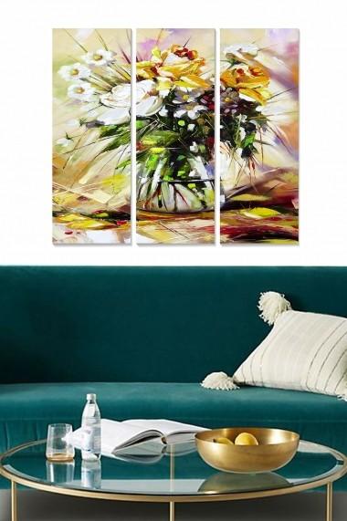 Tablou decorativ (set 3 piese) Bianca 553BNC2684 multicolor