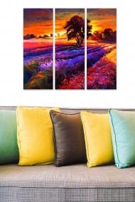 Tablou decorativ (set 3 piese) Bianca 553BNC2690 multicolor