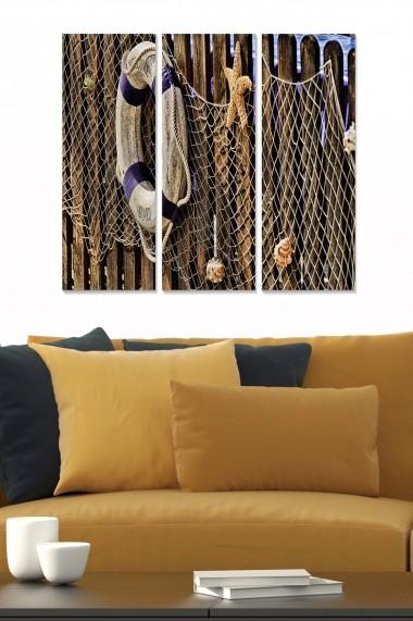 Tablou decorativ (set 3 piese) Bianca 553BNC2704 multicolor