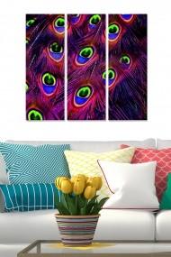 Tablou decorativ (set 3 piese) Bianca 553BNC2711 multicolor