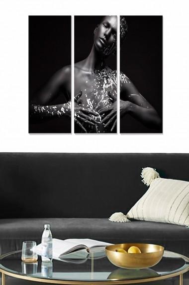 Tablou decorativ (set 3 piese) Bianca 553BNC2716 multicolor