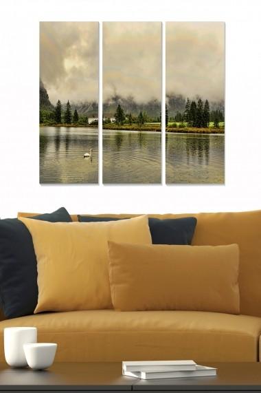 Tablou decorativ (set 3 piese) Bianca 553BNC2722 multicolor