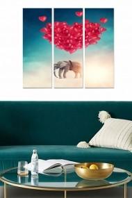 Tablou decorativ (set 3 piese) Bianca 553BNC2735 multicolor