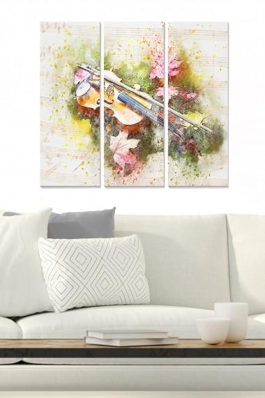 Tablou decorativ (set 3 piese) Bianca 553BNC2738 multicolor