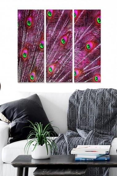 Tablou decorativ (set 3 piese) Bianca 553BNC2741 multicolor